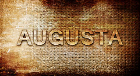 augusta: augusta, 3D rendering, text on a metal backgroundnil Stock Photo