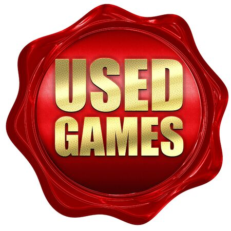 users video: used games, 3D rendering, a red wax seal