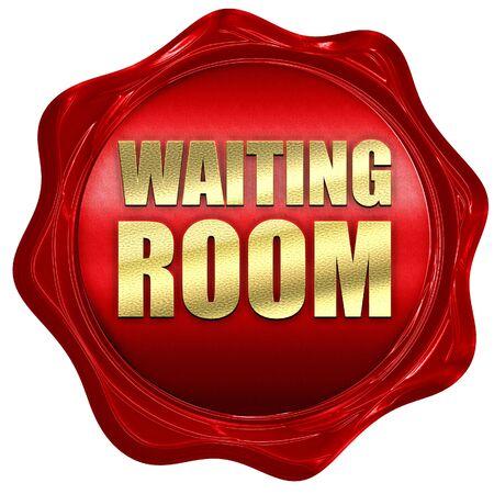 visitador medico: sala de espera, 3D, un sello de cera roja