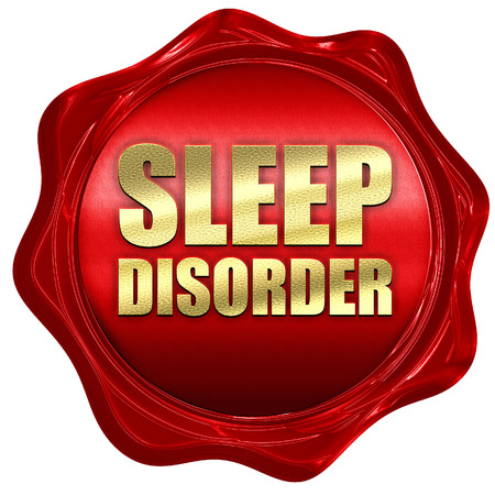 sleep disorder: sleep disorder, 3D rendering, a red wax seal