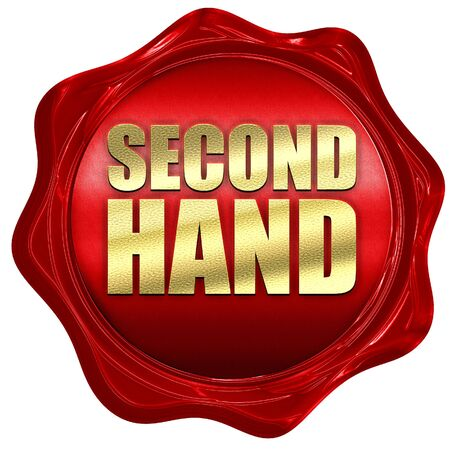 wax sell: second hand, 3D rendering, a red wax seal Stock Photo