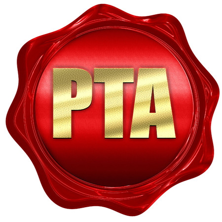 pta, 3D rendering, a red wax seal