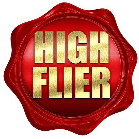 flier: high flier, 3D rendering, a red wax seal Stock Photo