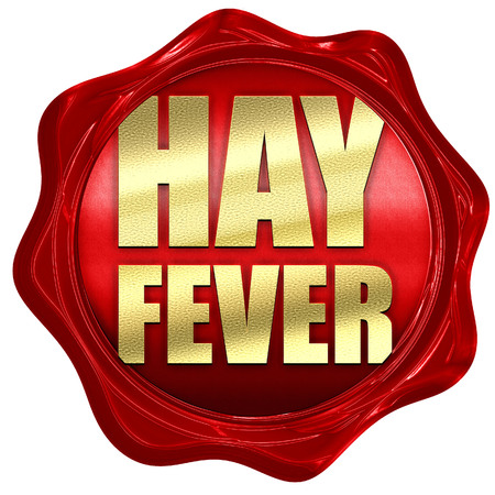hayfever: hayfever, 3D rendering, a red wax seal