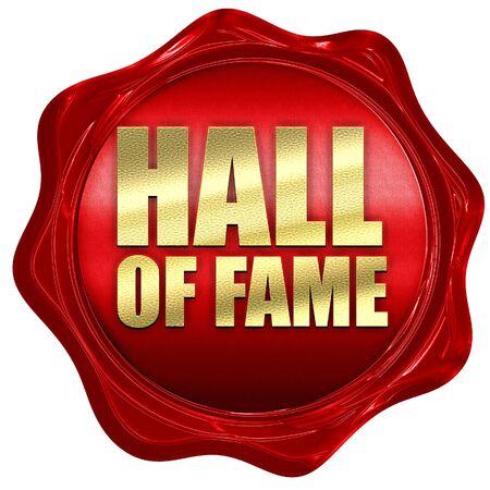 hall of fame, renderowanie 3D, czerwona pieczęć woskowa Zdjęcie Seryjne