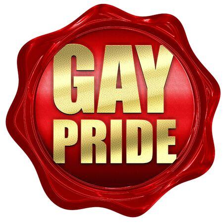 wedding parade: gay pride, 3D rendering, a red wax seal