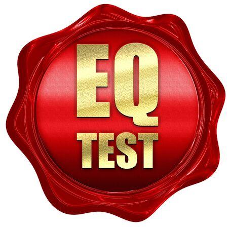 eq: eq test, 3D rendering, a red wax seal