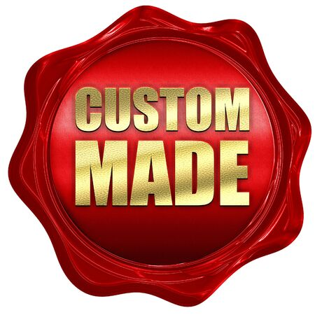 custom made: custom made, 3D rendering, a red wax seal Stock Photo