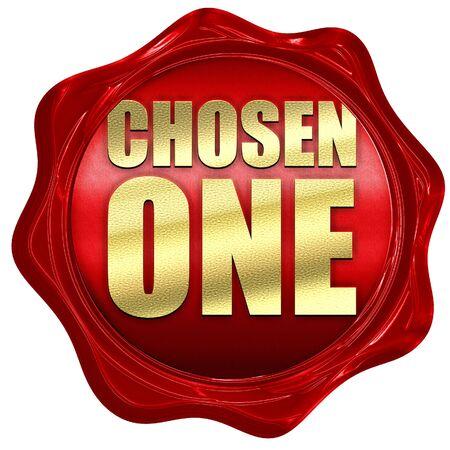 chosen: chosen one, 3D rendering, a red wax seal