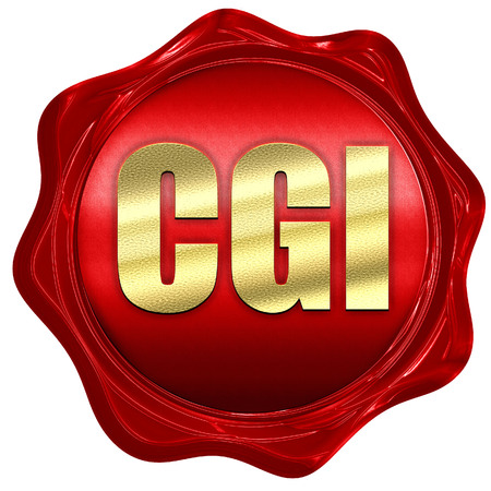 cgi: cgi, 3D rendering, a red wax seal Stock Photo