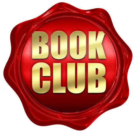 book club: book club, 3D rendering, a red wax seal Stock Photo