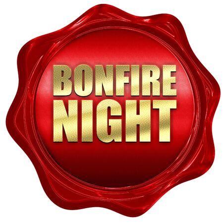 bonfire night: bonfire night, 3D rendering, a red wax seal Stock Photo