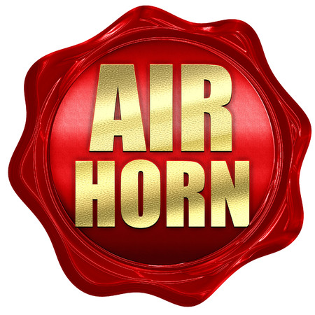 noise isolation: air horn, 3D rendering, a red wax seal Stock Photo