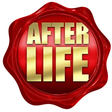hereafter: afterlife, 3D rendering, a red wax seal Stock Photo