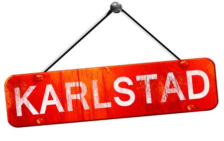 karlstad: karlstad, 3D rendering, a red hanging sign