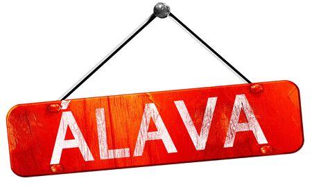 alava: Alava, 3D rendering, a red hanging sign