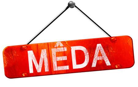 hanging sign: Meda, 3D rendering, a red hanging sign
