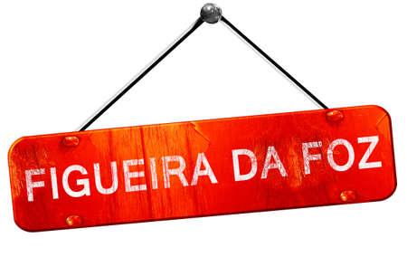 da: Figueira da foz, 3D rendering, a red hanging sign