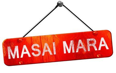 masai: Masai mara, 3D rendering, a red hanging sign