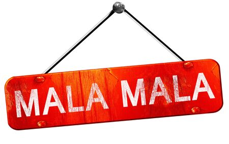 national parks: Mala mala, 3D rendering, a red hanging sign