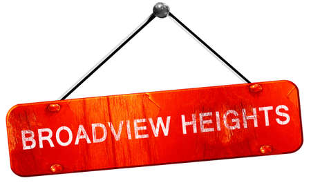 heights: broadview heights, 3D rendering, a red hanging sign