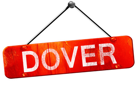 dover: dover, 3D rendering, a red hanging sign