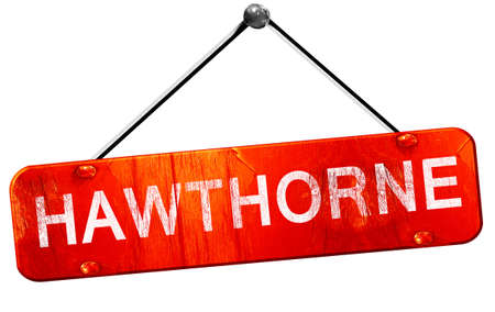 hawthorne: hawthorne, 3D rendering, a red hanging sign