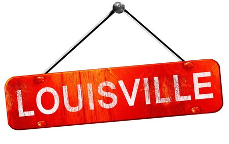 louisville: louisville, 3D rendering, a red hanging sign