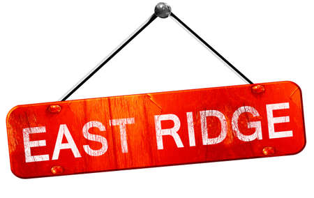 ridges: east ridge, 3D rendering, a red hanging sign