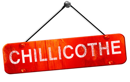 hanging sign: chillicothe, 3D rendering, a red hanging sign