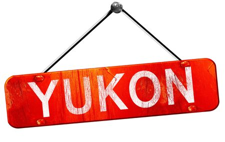 yukon: yukon, 3D rendering, a red hanging sign