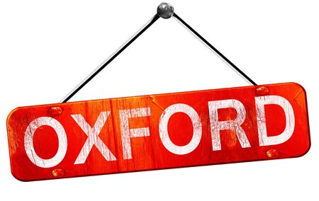 oxford: oxford, 3D rendering, a red hanging sign