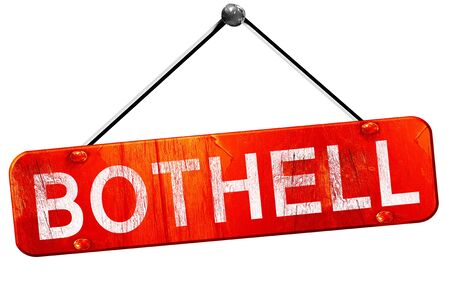 hanging sign: bothell, 3D rendering, a red hanging sign Stock Photo
