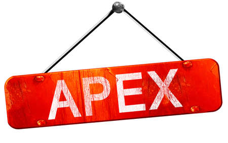 apex: apex, 3D rendering, a red hanging sign