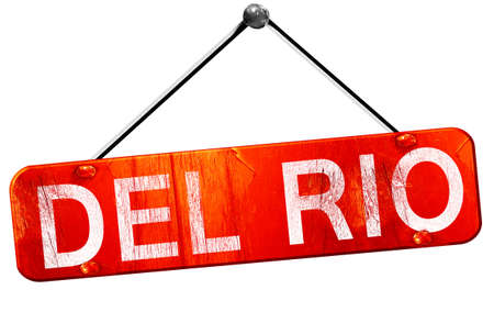 del: del rio, 3D rendering, a red hanging sign Stock Photo