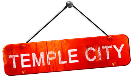 3d temple: temple city, 3D rendering, a red hanging sign