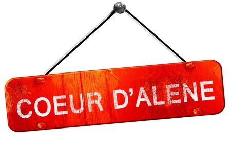 coeur: coeur dalene, 3D rendering, a red hanging sign