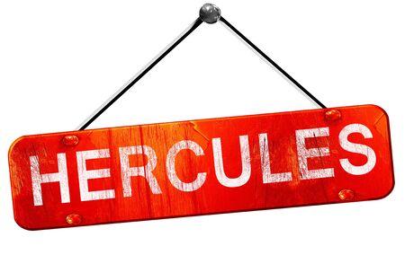 hercules: hercules, 3D rendering, a red hanging sign Stock Photo