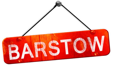 hanging sign: barstow, 3D rendering, a red hanging sign
