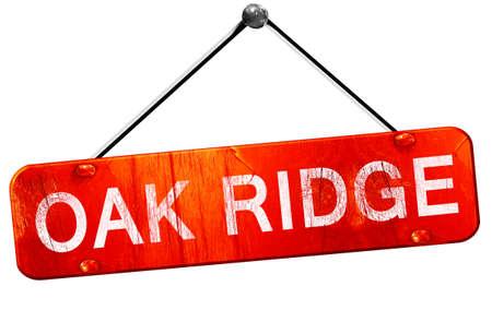 ridge: oak ridge, 3D rendering, a red hanging sign Stock Photo