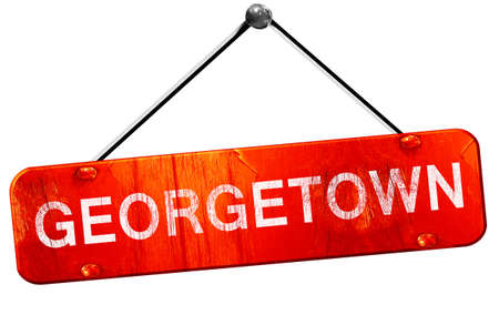 georgetown: georgetown, 3D rendering, a red hanging sign