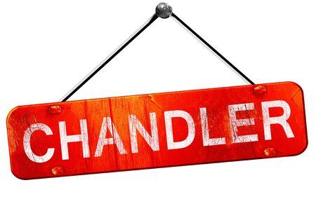 chandler: chandler, 3D rendering, a red hanging sign