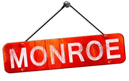 monroe: monroe, 3D rendering, a red hanging sign