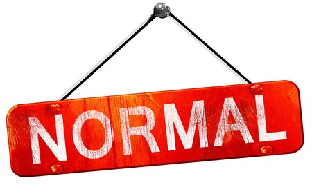 normal: normal, 3D rendering, a red hanging sign