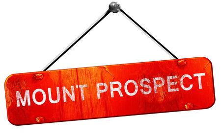 prospects: mount prospect, 3D rendering, a red hanging sign