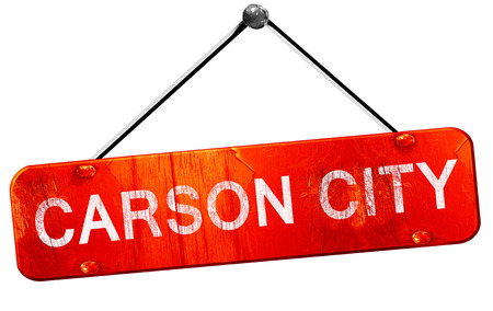 carson city: carson city, 3D rendering, a red hanging sign