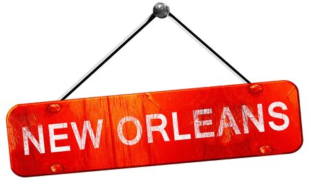new orleans: new orleans, 3D rendering, a red hanging sign Stock Photo