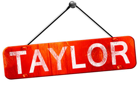 taylor: taylor, 3D rendering, a red hanging sign