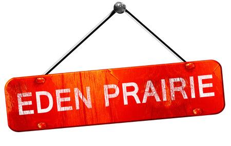 prairie: eden prairie, 3D rendering, a red hanging sign