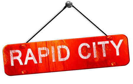 rapid: rapid city, 3D rendering, a red hanging sign